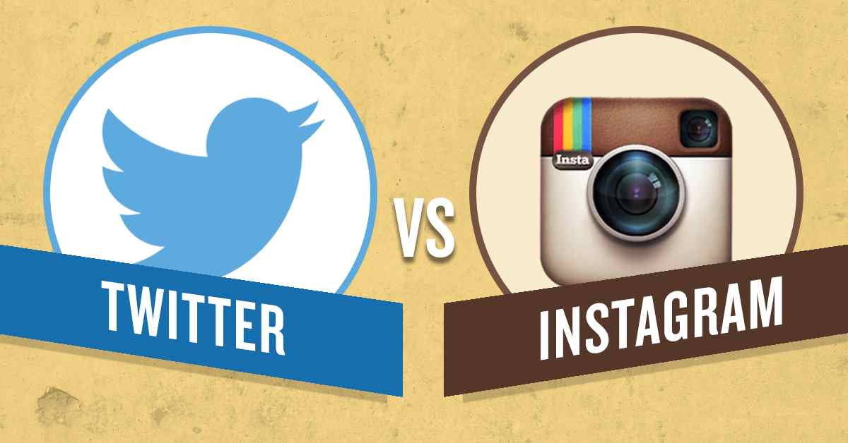 Instagram and Twitter