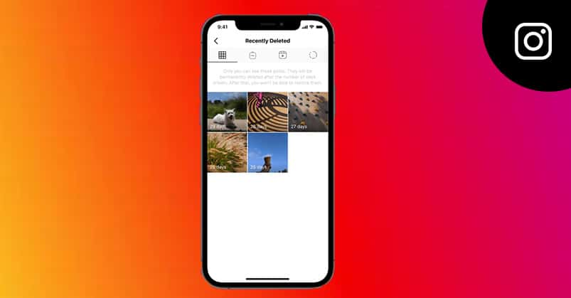 restore your deleted posts on Instagram