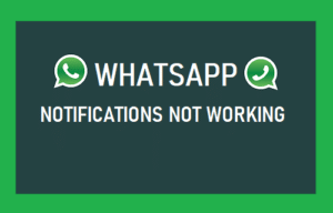 sound problem in WhatsApp notifications